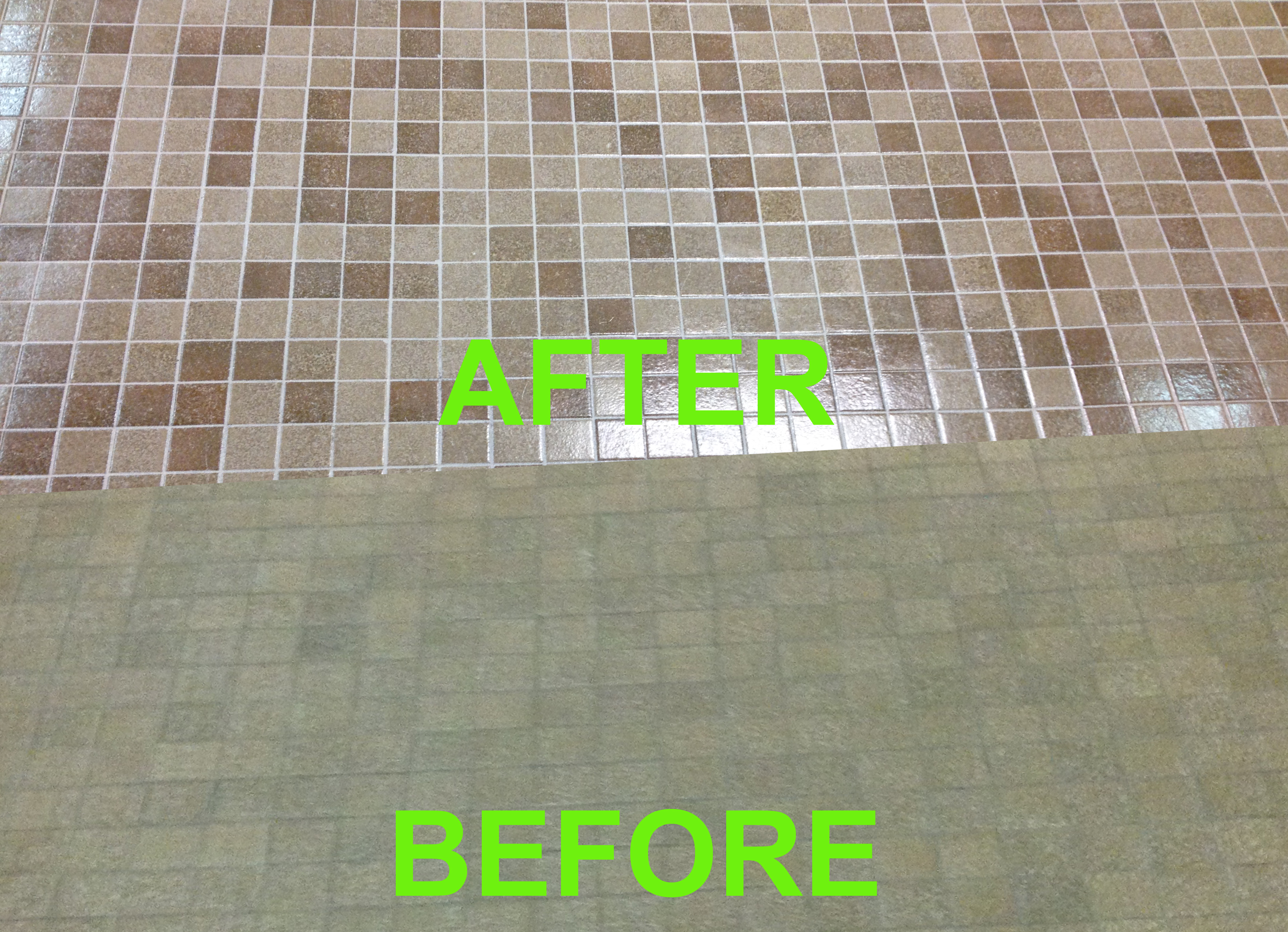 grout recoloring before and after